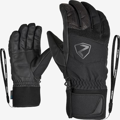 ZIENER Skihandschuhe 'GINX AS(R) AW glove ski alpine' in schwarz, Produktansicht