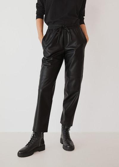 MANGO Hose 'apple' in schwarz, Modelansicht