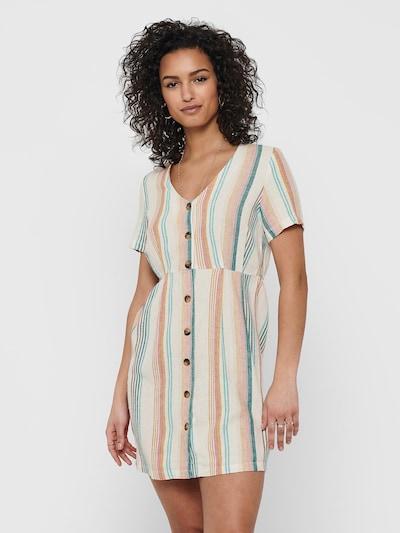 JDY Kleid 'VIVA-OHIO' in aqua / gelb / petrol / rosa / naturweiß, Modelansicht