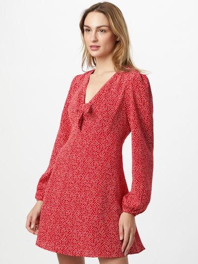 GUESS Robe 'ALIMA' en rouge / blanc, Vue avec modèle