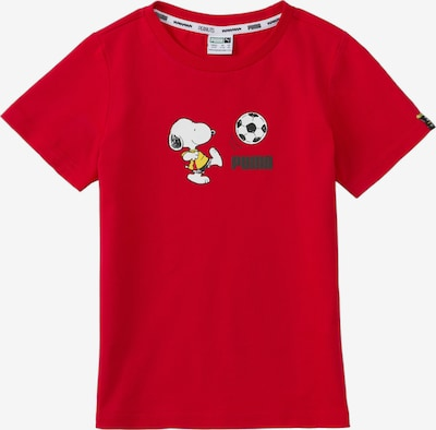 PUMA T-Shirt in gelb / rot / weiß, Produktansicht