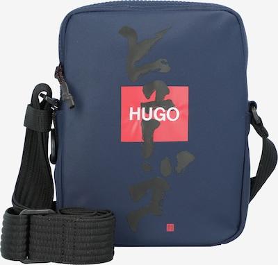 HUGO Schoudertas 'Record' in de kleur Donkerblauw / Rood / Zwart / Wit, Productweergave