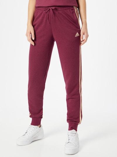 ADIDAS PERFORMANCE Sportske hlače u roza / bordo, Prikaz modela