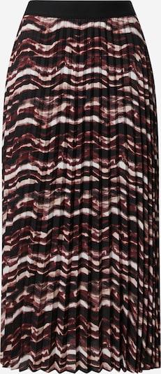 s.Oliver BLACK LABEL Jupe en mélange de couleurs / rouge rubis / noir / blanc, Vue avec produit
