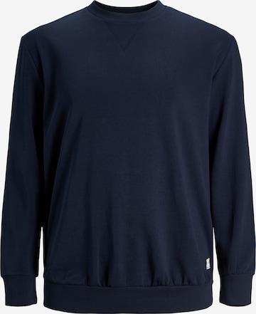 Bluză de molton de la Jack & Jones Plus pe albastru