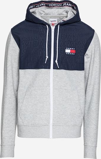 Tommy Jeans Sweatvest in de kleur Navy / Grijs gemêleerd, Productweergave