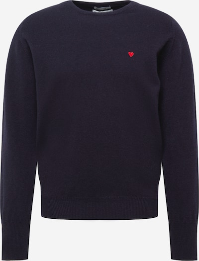 Brosbi Sweat-shirt 'THE FISHERMAN' en bleu nuit / rouge, Vue avec produit
