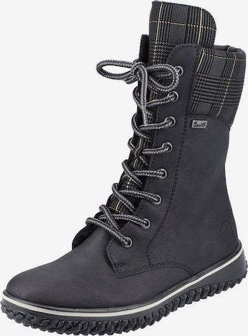 RIEKER Lace-Up Boots in Black
