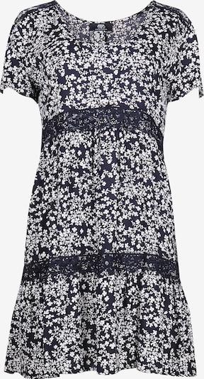 Le Temps Des Cerises Sommerkleid BLOM mit filigranem Blüten-Print in schwarz / weiß, Produktansicht