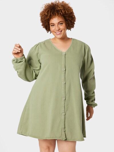 Missguided Plus Kleid in hellgrün, Modelansicht