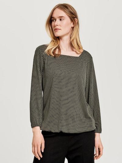 OPUS Bluse 'Sandya' in oliv / schwarz, Modelansicht