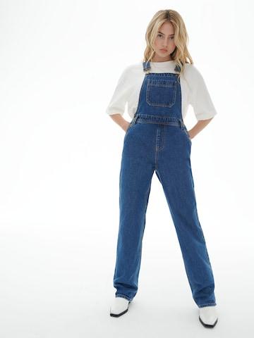 Jeans con pettorina 'Jenna' di LENI KLUM x ABOUT YOU in blu