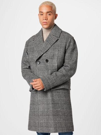 BOSS Mantel in schwarz / weiß, Modelansicht