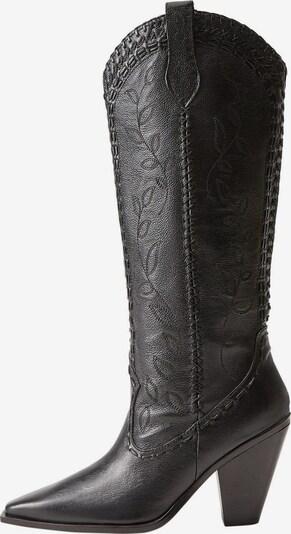 MANGO Cowboylaarzen in de kleur Zwart, Productweergave