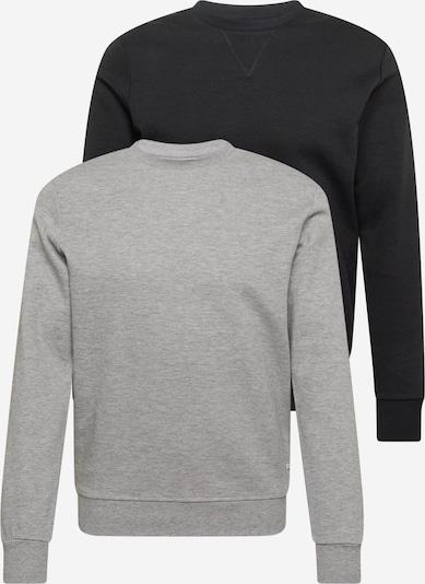 JACK & JONES Sweatshirt i gråmelerad / svart, Produktvy