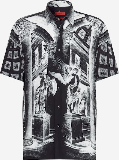 HUGO Hemd 'Ebor' in schwarz / weiß, Produktansicht