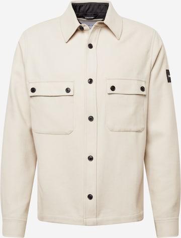 Calvin Klein Between-Season Jacket in Beige