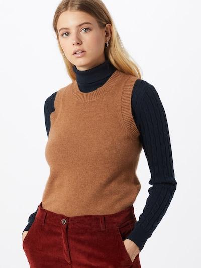 2NDDAY Strickweste 'Layton' in karamell, Modelansicht