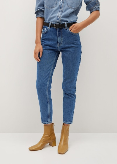 MANGO Mom Jeans in blue denim, Modelansicht