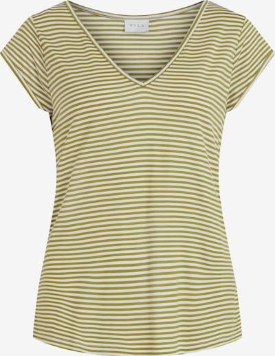 VILA Μπλουζάκι σε λαδί / λευκό, Άποψη προϊόντος