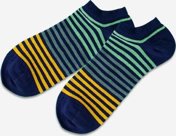 DillySocks Ankle Socks 'Short Triple' in Blue