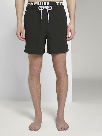 TOM TAILOR DENIM Zwemshorts in de kleur Zwart, Productweergave