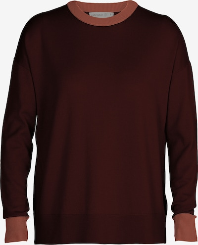 ICEBREAKER Athletic Sweater in Chestnut brown / Peach, Item view