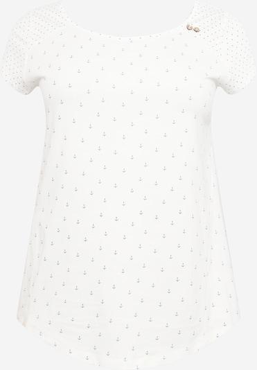 Ragwear Plus Shirt 'ROSANNA' in de kleur Blauw / Wit, Productweergave