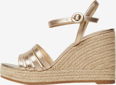 MANGO Sandalette in gold, Produktansicht
