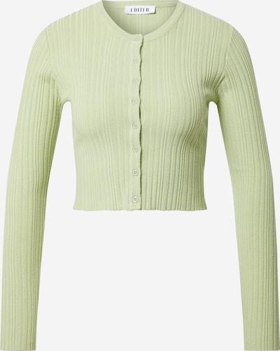 EDITED Cardigan 'Irene' en vert pastel, Vue avec produit