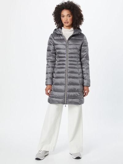 SAVE THE DUCK Abrigo de entretiempo 'CAMILLE' en gris plateado, Vista del modelo
