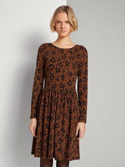 TOM TAILOR DENIM Kleid in braun / schwarz, Modelansicht