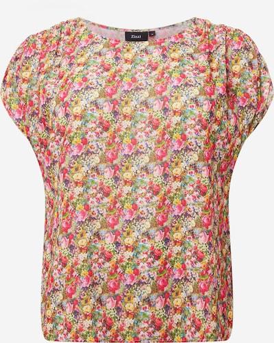 Zizzi Blouse 'MASTRID' in de kleur Gemengde kleuren / Pink, Productweergave
