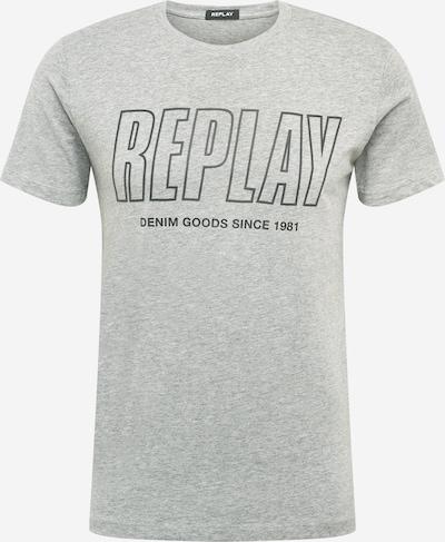 REPLAY T-Shirt in anthrazit / graumeliert, Produktansicht