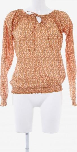Emily Van Den Bergh Langarm-Bluse in S in orange / rot / weiß, Produktansicht