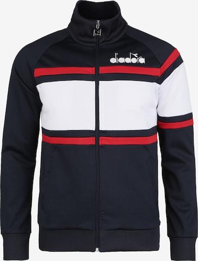 Diadora Sportsweatvest in de kleur Donkerblauw / Rood / Wit, Productweergave