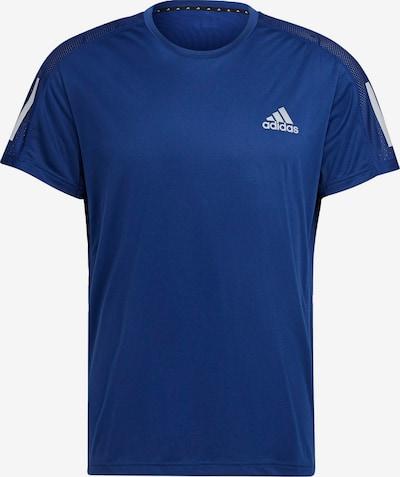 ADIDAS PERFORMANCE Funktionsshirt 'Own the Run' in blau / weiß: Frontalansicht