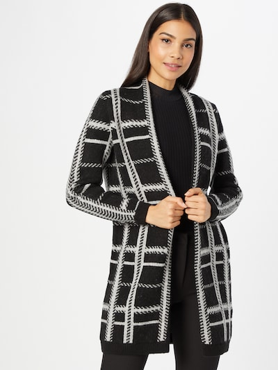 ONLY Knitted Coat 'BERNA' in Grey / Black, View model