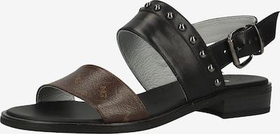 Nero Giardini Sandale in braun / schwarz, Produktansicht