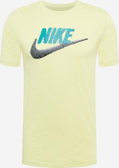 Tricou Nike Sportswear pe turcoaz / limetă / negru, Vizualizare produs