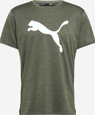 PUMA Sportshirt in khaki / weiß, Produktansicht