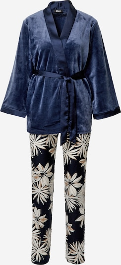 ETAM Pyjama  'SINO' in hellbeige / marine, Produktansicht