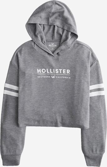 HOLLISTER Sweat-shirt en gris / blanc, Vue avec produit