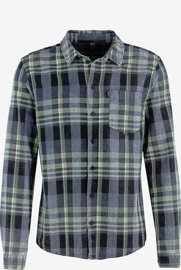 tigha Hemd  ' Neeo ' in dunkelblau / grau / grün, Produktansicht