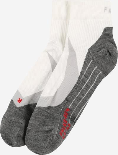 FALKE Sportsocken in grau / dunkelgrau / rot / weiß, Produktansicht