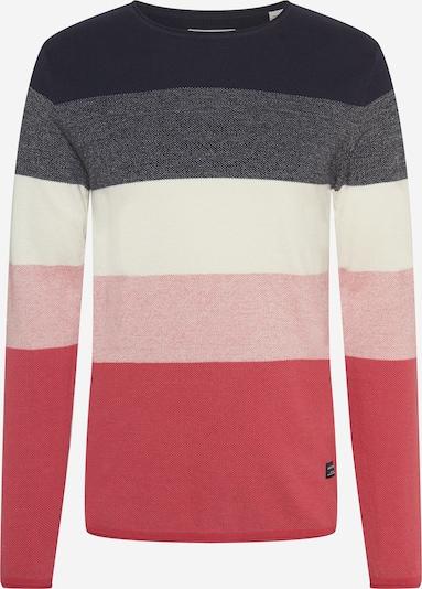 JACK & JONES Pullover 'LINCOLN' in marine / pink / weiß, Produktansicht