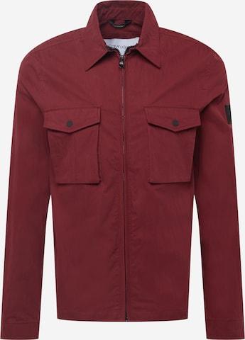 Calvin Klein Between-Season Jacket in Red