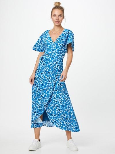Fabienne Chapot Jurk 'Archana' in de kleur Royal blue/koningsblauw / Wit, Modelweergave