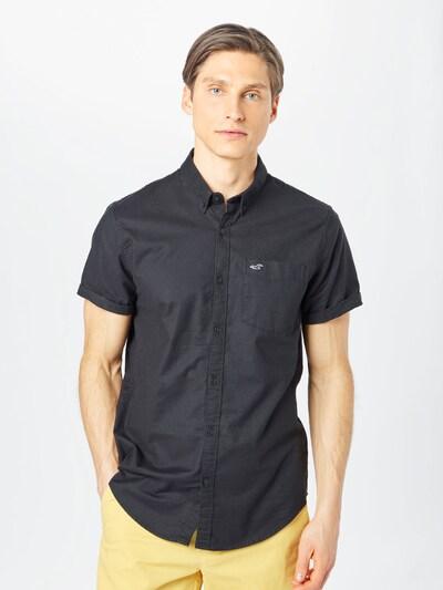 HOLLISTER Риза в черно: Изглед отпред