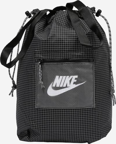 Nike Sportswear Tasche 'Heritage' in hellgrau / schwarz / weiß, Produktansicht